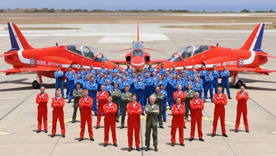 RAF Red Arrows Source: MoD